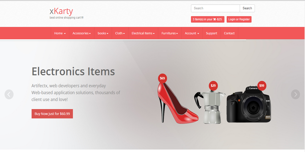 xkarty PHP Best Online Shopping Cart